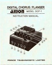 Vintage ARION DCF-1 Chorus/Flanger Instruction Manual,Very Good Condition