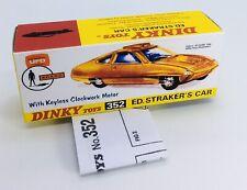 Dinky 352 Ed Straker's Car Empty Repro Box & Instructions