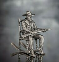 Zinnfigur. Wild West Battle Cowboy Sharpshooter, Hunter Gangster Thug. 54mm 1:32