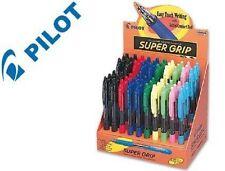 Lot de 60 Stylos à bille Pilot Super Grip pointe moyenne fournitures scolaires