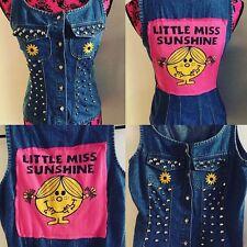 Little Miss Sunshine, Studded Festival Denim Vest, Size S/M, Revamped
