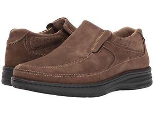Drew Men's Bexley Extra Depth Slip On Shoes - Brown Nubuck Medium Width NWB