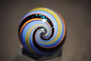 "Geoffrey Beetem Robin Egg Blue Banded Lutz 1 5/8"""