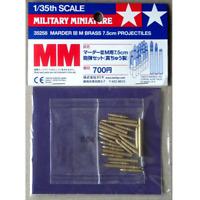Tamiya 35258 Marder III M Brass 7.5cm Projectiles 1/35