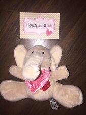 Heunec Elefant Dumbo Kuscheltier Plüschtier Stofftier Braun Beige Herz Rot Tuch