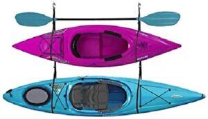 2- Kayak Storage Straps Garage Canoe Surfboard Wall Hooks Hanging Hoists 2 Pair