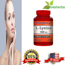 L-LYSINE 1000 MG FREE FORM YOUTHFUL HEALTHY SKIN DIETARY SUPPLEMENT 100 CAPLETS
