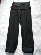 Lululemon Athletica Skirted Lined Track Pants Sz 6 Wet Warm Dry Black Blue Mesh
