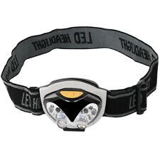 6 LED Torch Head Band Water Resistant Camping Hiking Caving Walking Flashlight