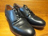 Womens Clarks  Black Leather Flat Lace Up Shoes UK 4 EU 37