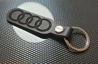 Audi RINGS Leather Keyring A 1 2 3 4 5 6 7 8 SQ S Sline Quattro TT R8 O