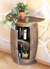 Wandtisch Halbrund Tisch Weinfass 0373-R Braun Weinregal Fass 73cm Beistelltisch