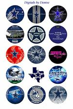 "DALLAS COWBOYS BOTTLE CAP IMAGES 15 1"" CIRCLES  *****FREE SHIPPING*****"