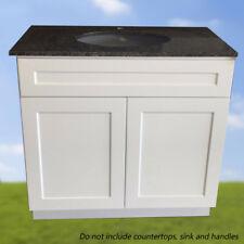 "Bathroom Vanity White Shaker 30"" W x 21"" D Single Sink"