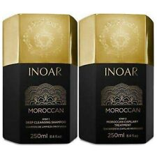 INOAR BRAZILIAN KERATIN MOROCCAN TREATMENT BLOW DRY HAIR STRAIGHTENING 250ML X2