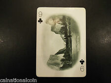 Vintage California Souvenir Nine of Clubs playing card