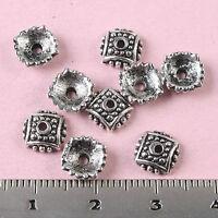 100Pcs 7mm tibetan silver color bead caps h1568