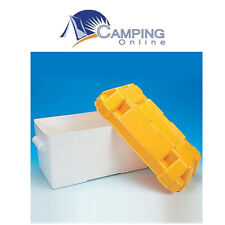 Yellow Plastic Leisure battery Box 110amp  Caravan Motorhome Marine
