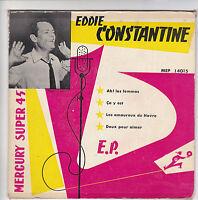"CONSTANTINE Eddie Vinyle 45 tours EP 7"" AH! LES FEMMES - MERCURY 14015 RARE"