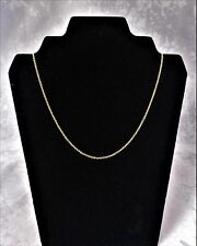 18CT YELLOW SOLID GOLD FINE QUALITY ROUND BELCHER NECKALCE/CHAIN 3.0gr