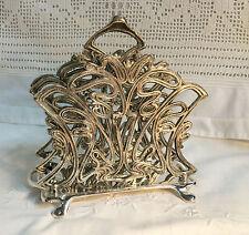 Porte courriers / lettres / serviettes  en bronze argenté de style Art déco