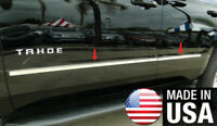 For 2015-2020 Chevy Tahoe GMC Yukon Stainless Body Side Molding Trim Flat 4PC
