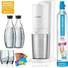 SodaStream Crystal 2.0 Wassersprudler Promo weiß, 2 x Karaffe, 1 x CO²-Zylinder