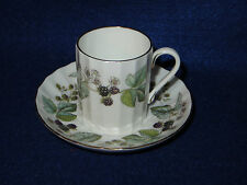 "ROYAL WORCESTER ""LAVINIA"" DEMITASSE CUP AND SAUCER SET - Z2821 - MINT"