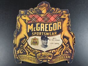 LOU GEHRIG HOF VINTAGE MCGREGOR YANKEES ADVERTISING SPORTSWEAR CARDBOARD SIGN