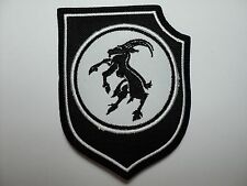 GOATMOON  SHIELD WHITE  EMBROIDERED  PATCH