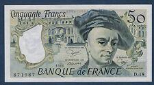 FRANCE - 50 FRANCS QUENTIN DE LA TOUR Fayette n°67.6 de 1980 en NEUF D.18 871587