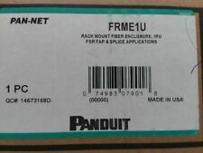 New Panduit Frme1U Rackmount Fiber Enclosure 1Ru For Fap And Splice Applications