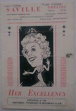 HER EXCELLENCY.ARCHIE MENZIES.PROGRAMME 1949.DOUGLAS QUAYLE.P DUCROW.P VAN GUCCI
