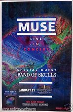 "MUSE / BAND OF SKULLS 2013 ""THE 2ND LAW TOUR"" SAN DIEGO CONCERT POSTER"