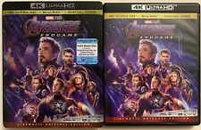 DISNEY MARVEL AVENGERS ENDGAME 4K ULTRA HD BLU RAY 3 DISC SET + SLIPCOVER SLEEVE