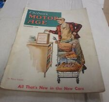Chilton's Motor Age Magazine November 1956 All That's New in the New Cars