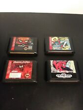 4 Spider Man Sega Genesis Video Games Lot