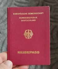 GERMANY 1993 - 2003  Expired pre biometric passport  issued in Brandenburg-Havel