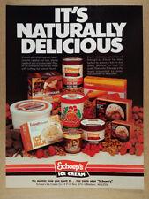 1983 Schoep's Ice Cream vintage print Ad
