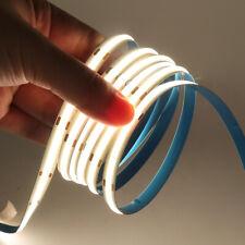 0.5-5m 12V COB LED Streifen Stripe Band Warmweiss Kaltweiss Keine Lichtpunkt DE