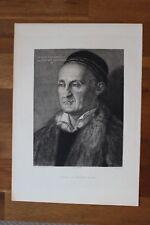 ✒ ca.1890 Albert Dürer Portrait Sénateur Muffel - Beau tirage sur vergé