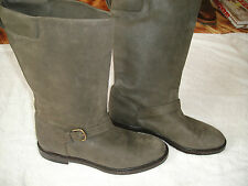 Fratelli Rossetti Italy Green Suede Womens Leather Boots Size 40