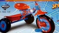 "New SPIDERMAN TRICYCLE Huffy Marvel Spider-Man Pedal Trike w/bins ""Kids Bike"""