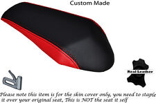RED & BLACK CUSTOM FITS APRILIA RS 50 06-09 REAR LEATHER SEAT COVER