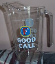FOSTERS 4 pint LAGER POLYCARBONATE BEER JUG// PITCHERS BRAND NEW Man Cave Bar Pub