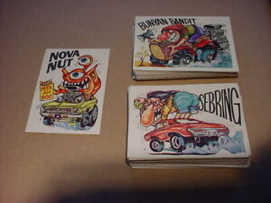 58 Diff. 1973 Donruss Fantastic Odd Rods Series 2 Sticker Cards