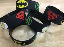 1PCS Cartoon Superhero Bracelets Wristband Silicone Bracelet Party NOU