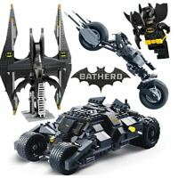 DC Lego Batman Figures Batpod Batmobile Set Avengers Building Blocks Kids Toys