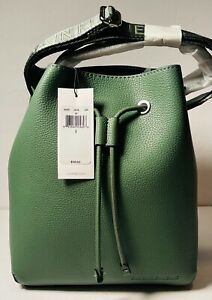 Calvin Klein CK Green Vegan Leather Handbag Purse Bucket Bag Tote BRAND NEW