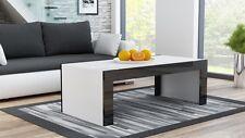 Couchtisch C7Wohnzimmer Tisch Beistelltisch Kaffeetisch weiß/schwarz Hochglanz